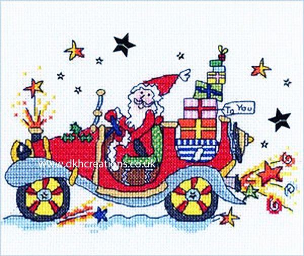 Sew Dinky Xmas Car Cross Stitch Kit
